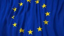 European Union flag 3D illustration