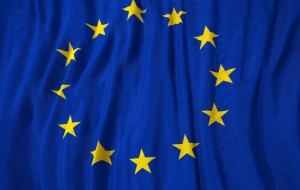 European Union flag 3D illustration